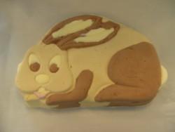 Spreekt voor zich... het konijn of de Paashaas. Geheel gemaakt van ijs.